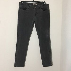 JBrand The Deal Skinny Leg Jeans Ghost Zip Ankle